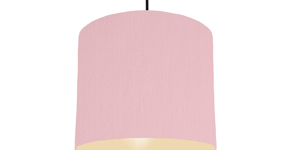 Pink & Ivory Lampshade - 25cm Wide