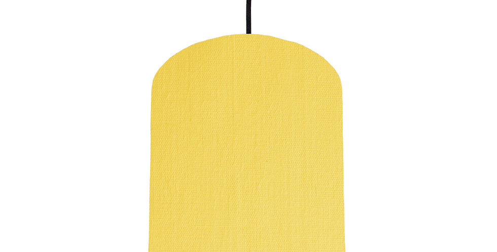 Lemon & Brushed Silver Lampshade - 20cm Wide
