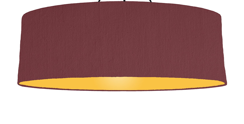 Wine Red & Butter Yellow Lampshade - 100cm Wide