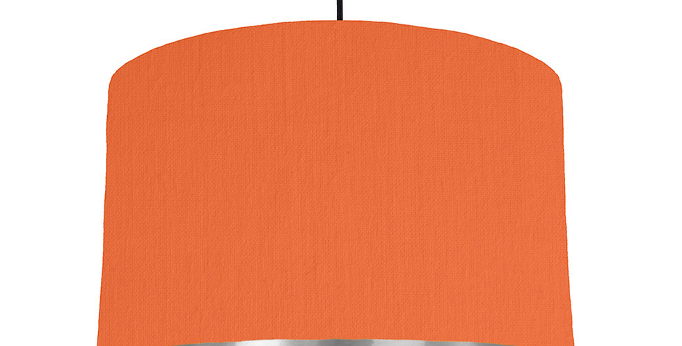 Orange & Silver Mirrored Lampshade - 40cm Wide