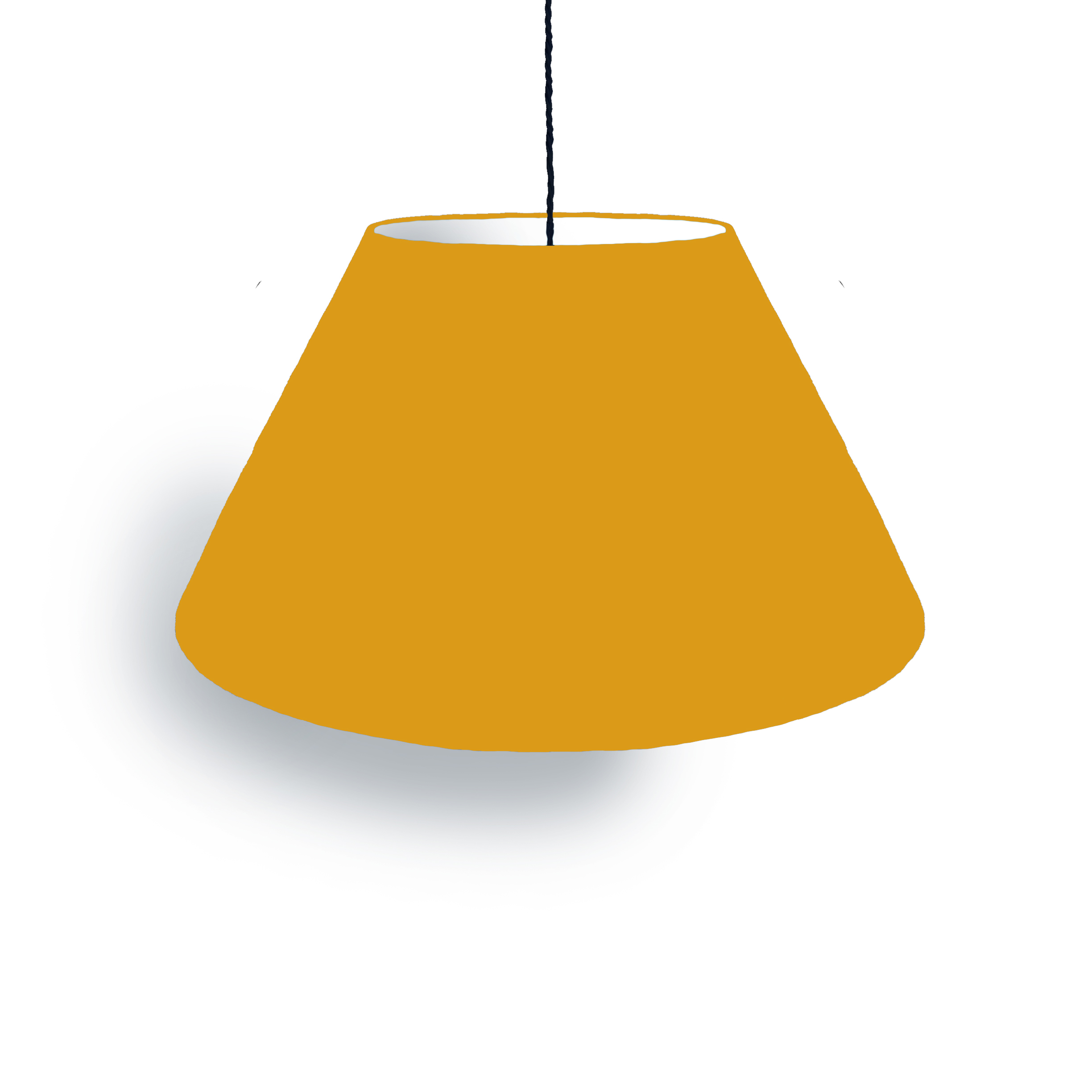 Conical mustard lampshade