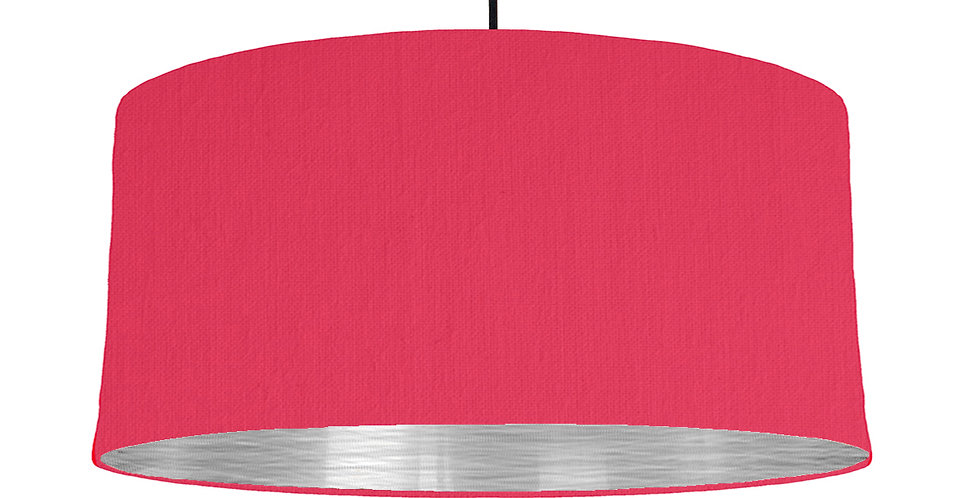 Cerise & Brushed Silver Lampshade - 60cm Wide