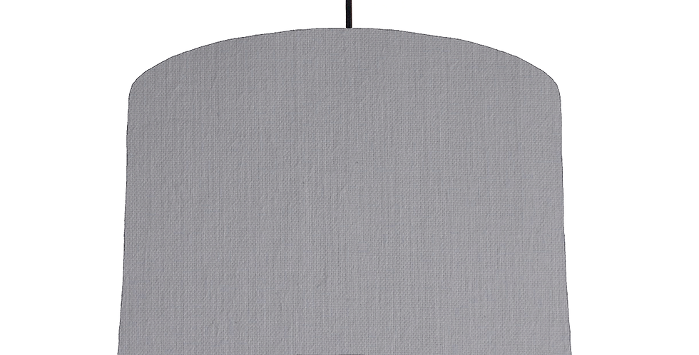 Light Grey & White Lampshade - 30cm Wide
