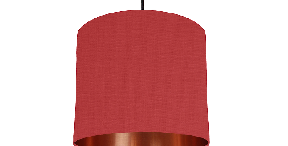 Red & Copper Mirrored Lampshade - 25cm Wide