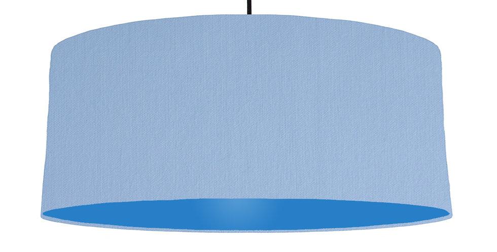 Sky Blue & Bright Blue Lampshade - 70cm Wide
