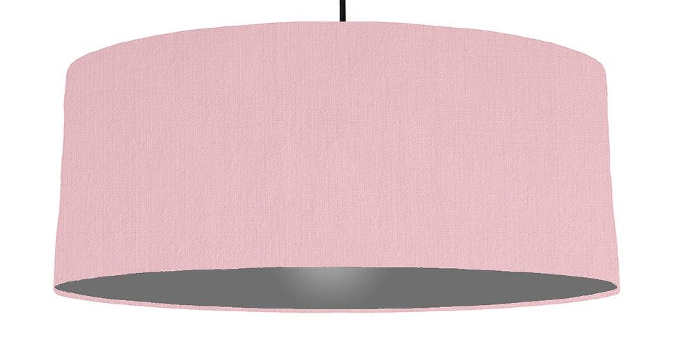 Pink & Dark Grey Lampshade - 70cm Wide