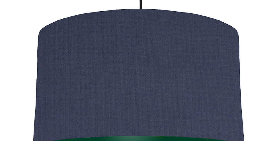 Navy Blue & Forest Green Lampshade - 50cm Wide