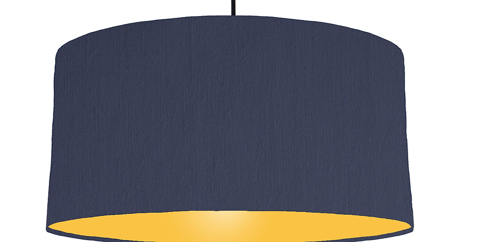 Navy Blue & Butter Yellow Lampshade - 60cm Wide