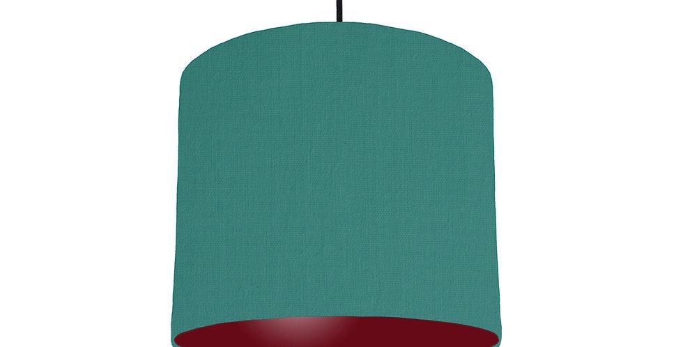 Jade & Burgundy Lampshade - 25cm Wide