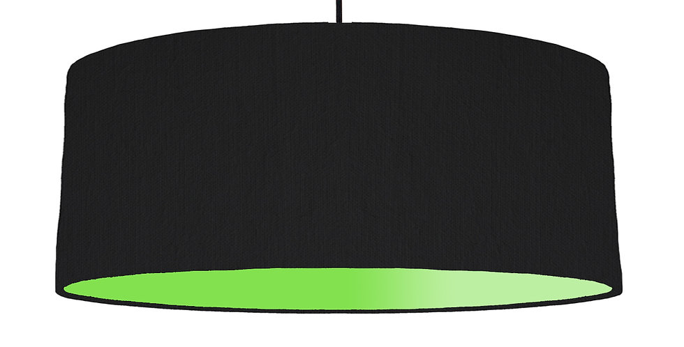 Black & Lime Green Lampshade - 70cm Wide