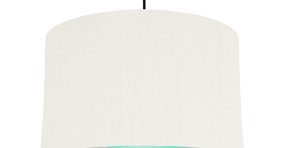 White & Mint Lampshade - 40cm Wide