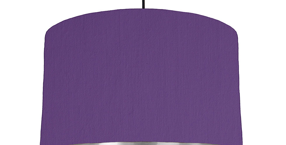 Violet & Silver Mirrored Lampshade - 40cm Wide