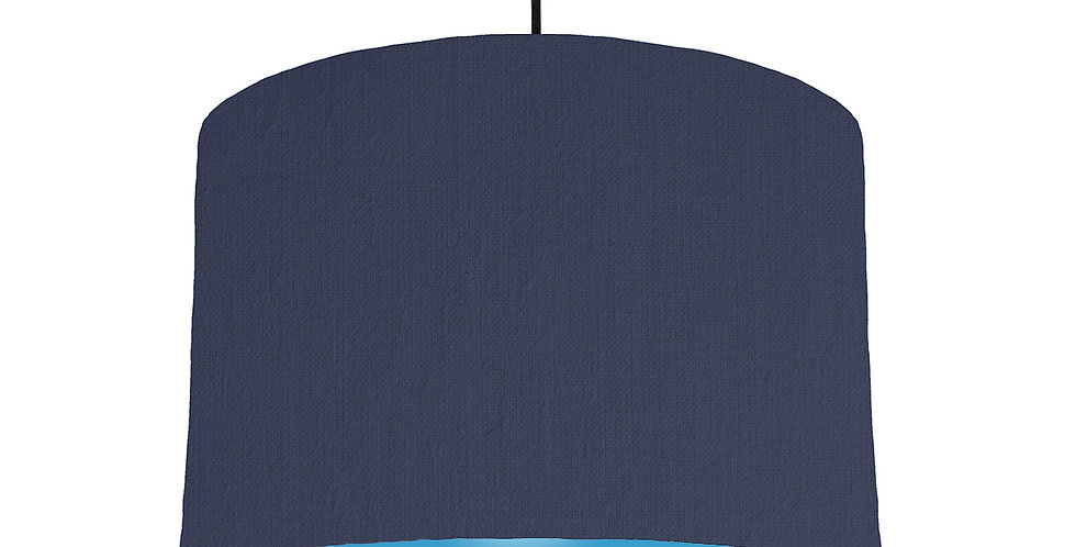 Navy Blue & Light Blue Lampshade - 30cm Wide