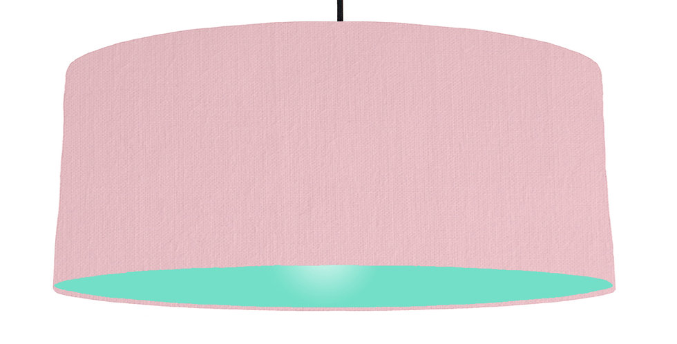 Pink & Mint Lampshade - 70cm Wide
