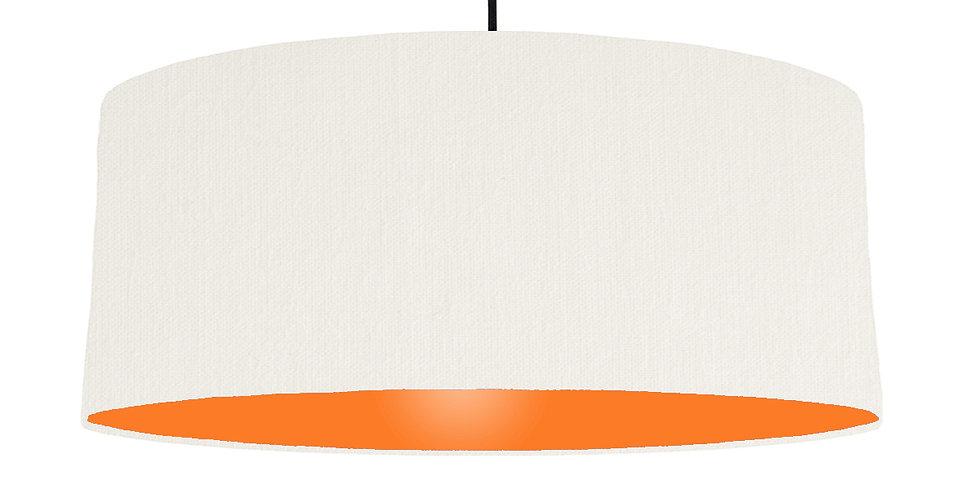 White & Orange Lampshade - 70cm Wide