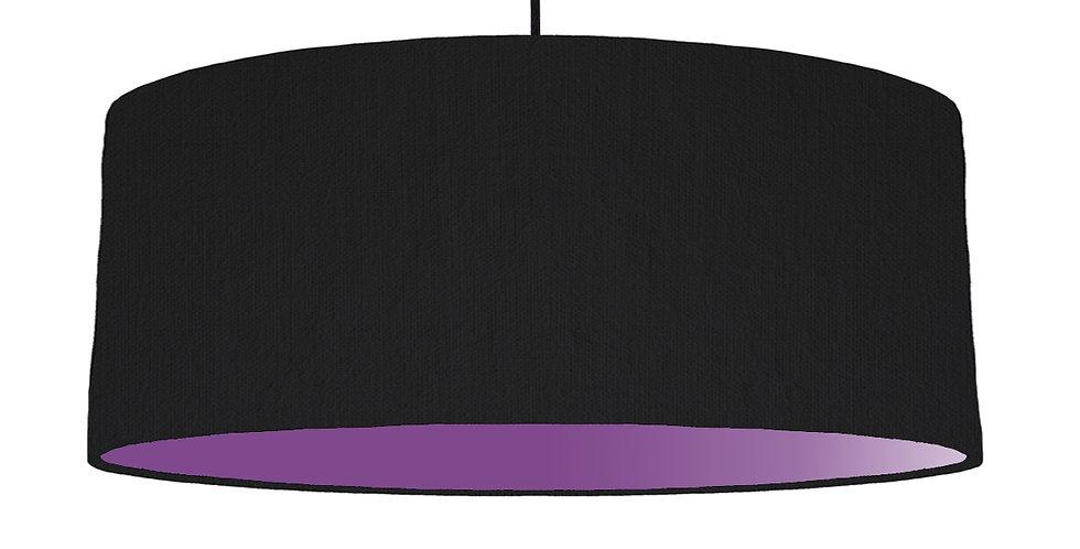 Black & Purple Lampshade - 70cm Wide