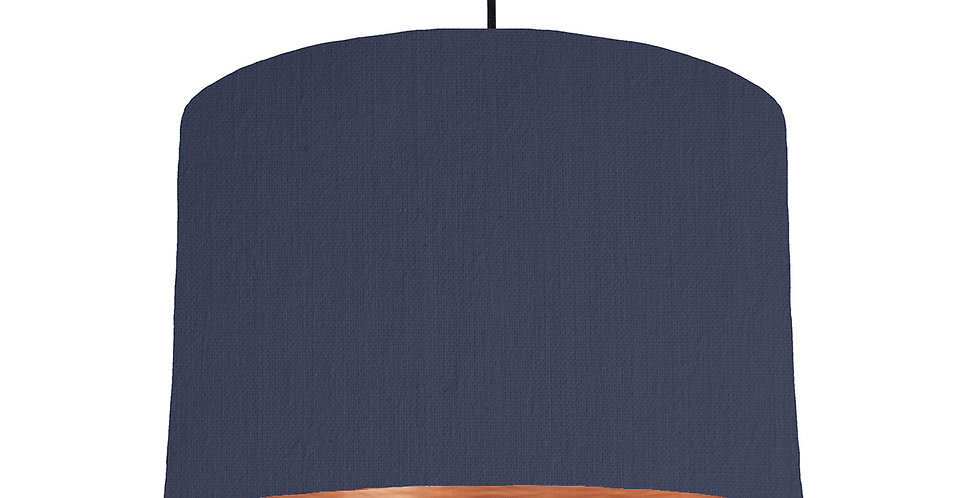 Navy & Brushed Copper Lampshade - 30cm Wide