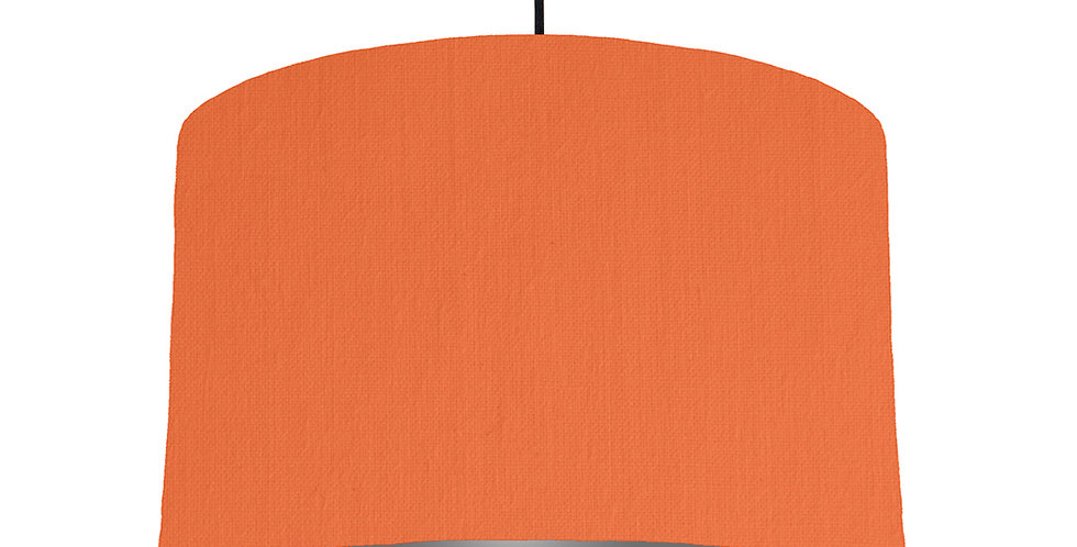 Orange & Dark Grey Lampshade - 40cm Wide
