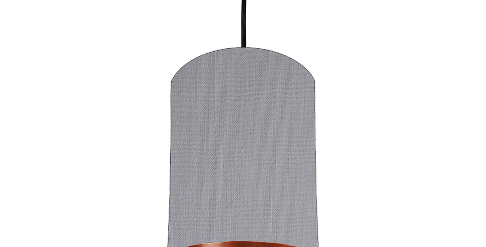 Light Grey & Copper Mirrored Lampshade - 15cm Wide