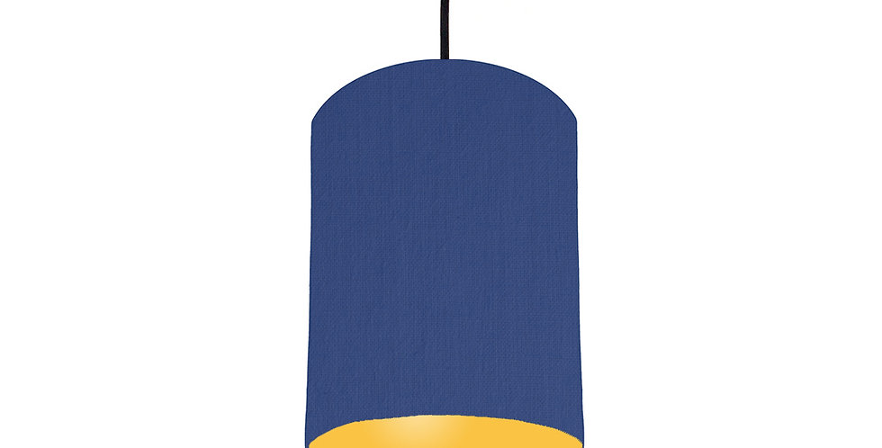 Royal Blue & Butter Yellow Lampshade - 15cm Wide
