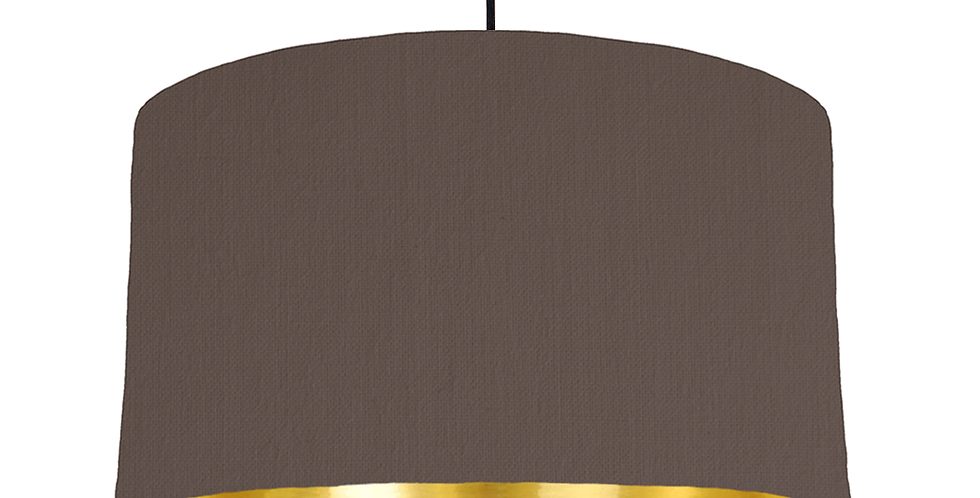 Brown & Gold Mirrored Lampshade - 50cm Wide