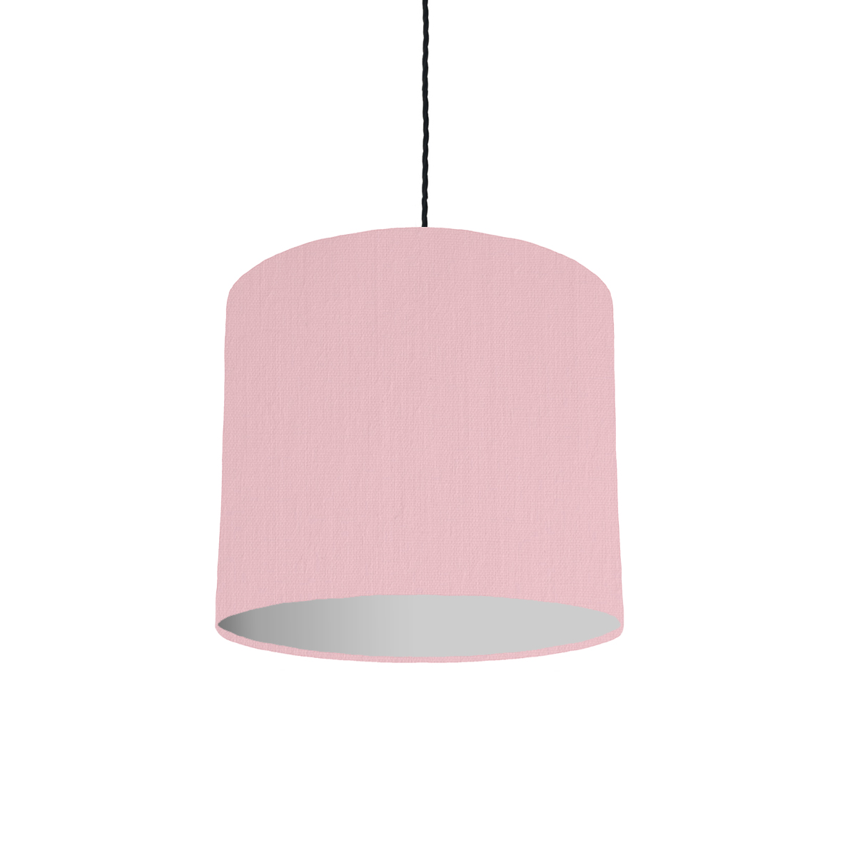 Pink and grey lampshade