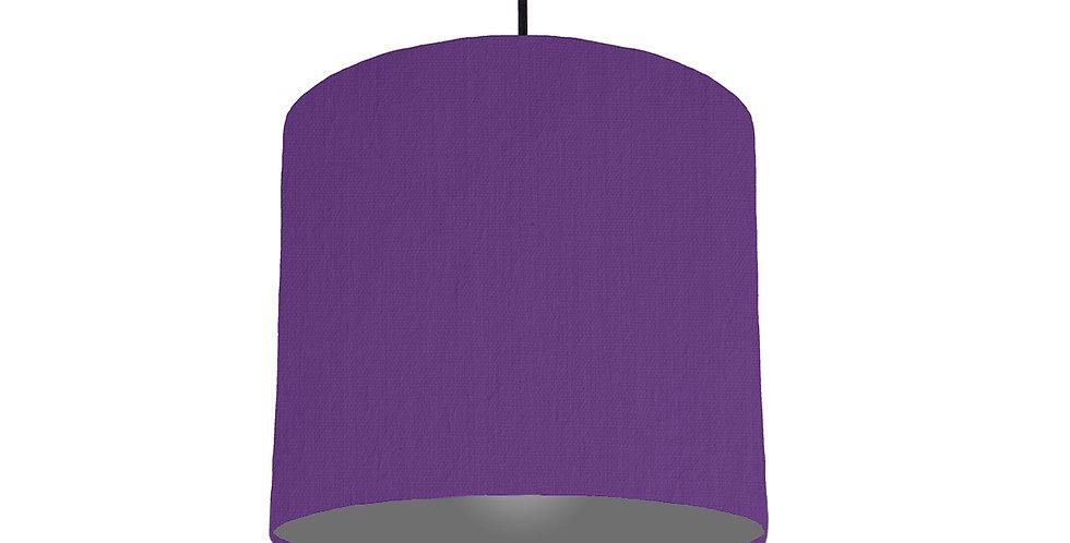 Violet & Dark Grey Lampshade - 25cm Wide
