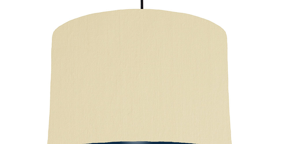 Natural & Navy Lampshade - 30cm Wide
