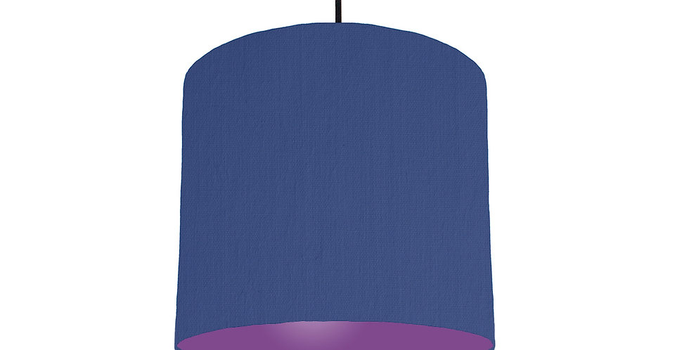 Royal Blue & Purple Lampshade - 25cm Wide
