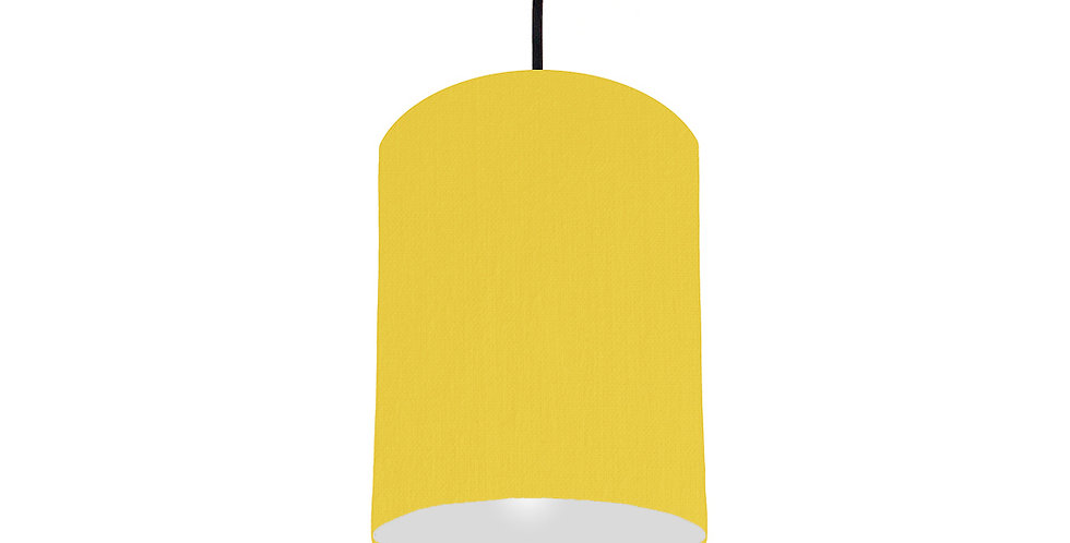 Lemon & Light Grey Lampshade - 15cm Wide