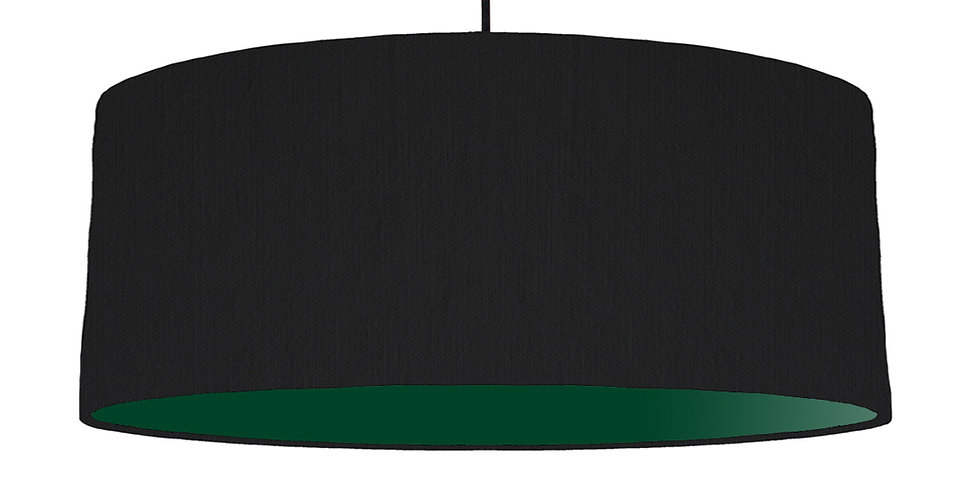 Black & Forest Green Lampshade - 70cm Wide