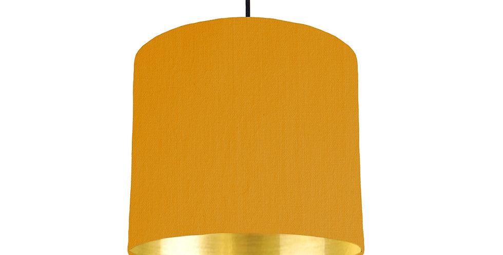 Mustard & Gold Mirrored Lampshade - 25cm Wide