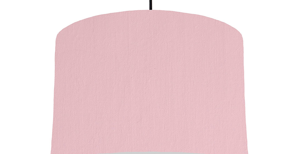 Pink & Light Grey Lampshade - 30cm Wide