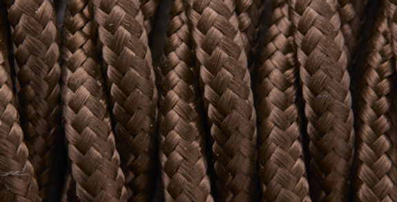 Brown - Industville Twisted Fabric Cable
