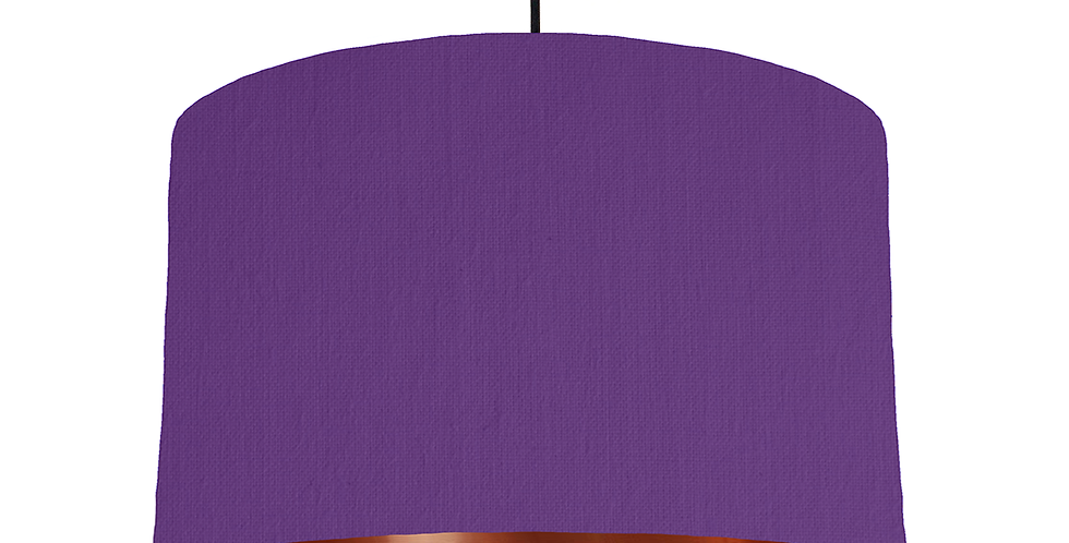Violet & Copper Mirrored Lampshade - 40cm Wide