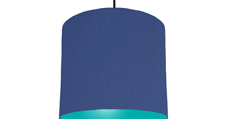 Royal Blue & Turquoise Lampshade - 25cm Wide