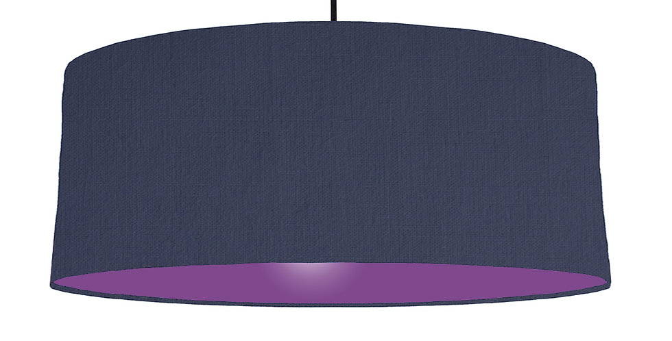 Navy Blue & Purple Lampshade - 70cm Wide