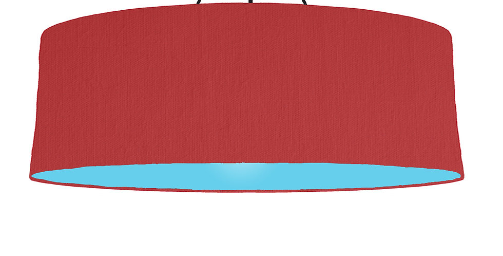 Red & Light Blue Lampshade - 100cm Wide