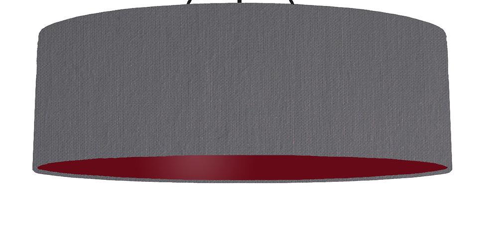 Dark Grey & Burgundy Lampshade - 100cm Wide