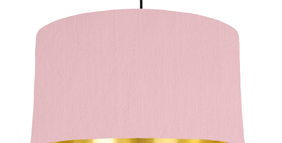 Pink & Gold Mirrored Lampshade - 50cm Wide