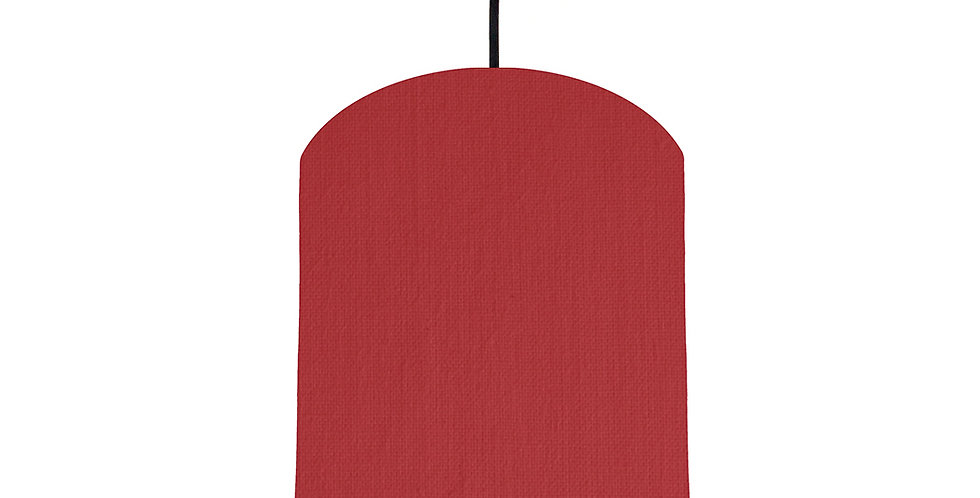 Red & Mint Lampshade - 20cm Wide