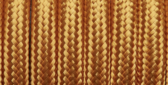 Gold - Industville Round Fabric Cable