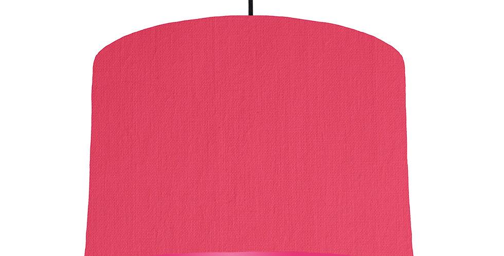 Cerise & Magenta Lampshade - 30cm Wide