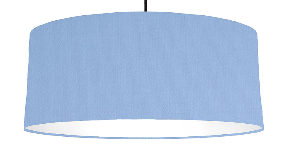 Sky Blue & White Lampshade - 70cm Wide