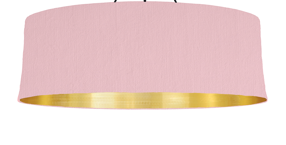 Pink & Brushed Gold Lampshade - 100cm Wide