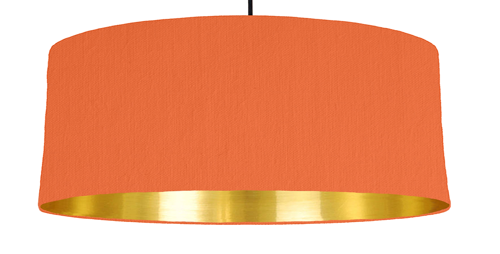 Orange & Gold Mirrored Lampshade - 70cm Wide