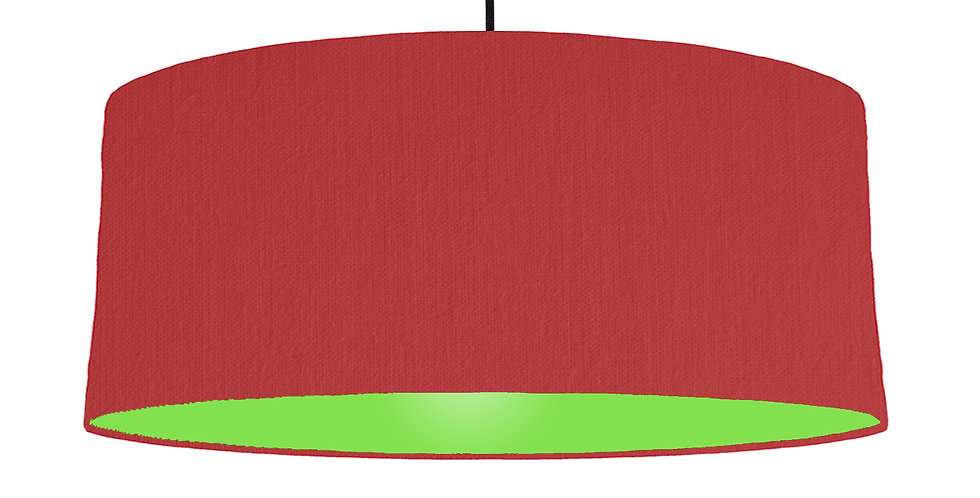 Red & Lime Green Lampshade - 70cm Wide