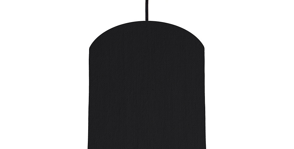 Black & Poppy Red Lampshade - 20cm Wide