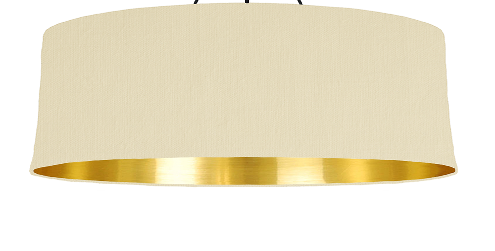 Natural & Gold Mirrored Lampshade - 100cm Wide