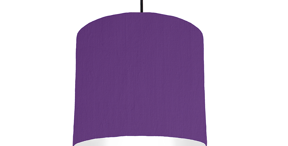 Violet & White Lampshade - 25cm Wide